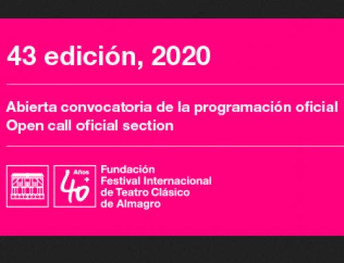 Convocatoria Presentación de propuestas para la 43 Edición del Festival de Almagro